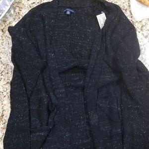 Black speckled sweater